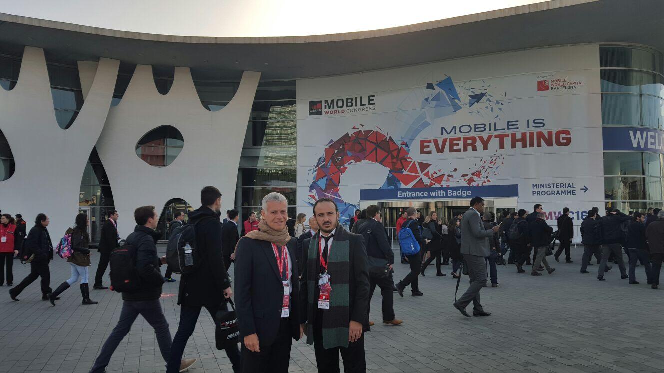 Juan Dell Ara e Ignacio Cocco, de Vrainz, viajaron al Mobile World Congress 2016.